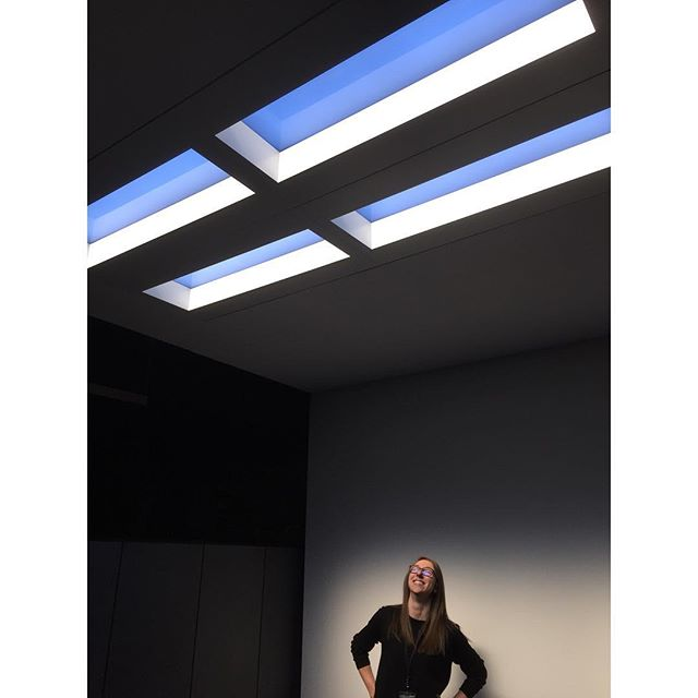Danielle and Bridget are in Montreal today checking out the @axislighting showroom for their next bright idea 💡😎