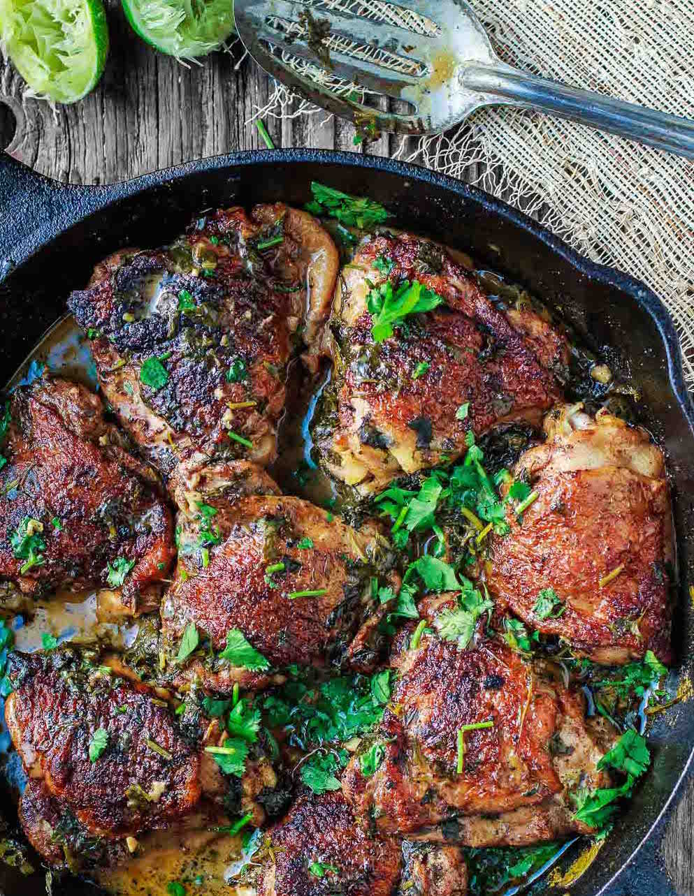 Chipotle Lime Chicken Thighs -