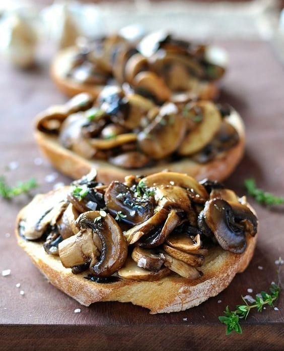 Mushroom Corstini - Spring Produce: Morel Mushrooms, Leeks
