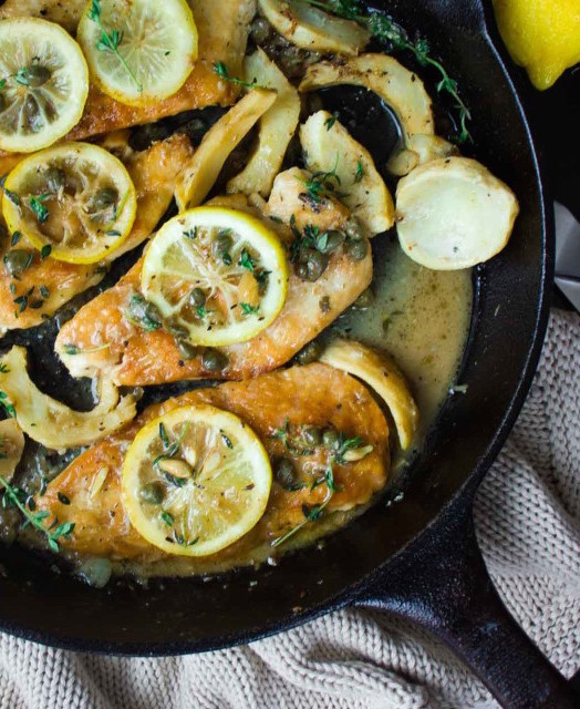 Artichoke Chicken Picatta - Spring Produce: Artichoke