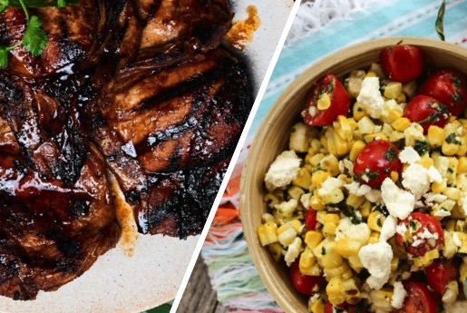 Dinner - Pork Chops & Charred Corn Salad