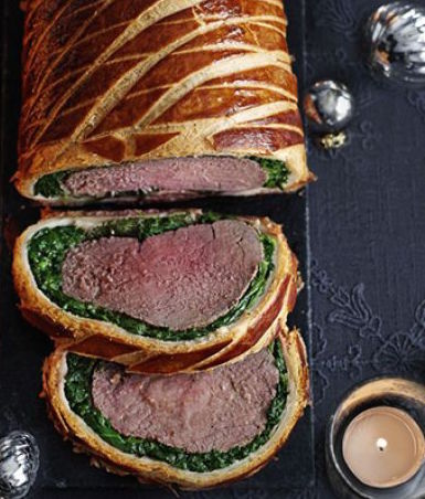 Blue Cheese Beef Wellington -