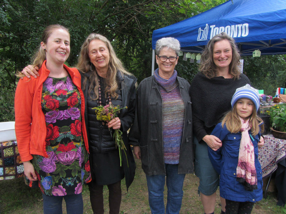 In keeping with the intergenerational theme of the tea party, Emma and Jane both brought their moms and, in Jane's case, her daughter—that's three generations!