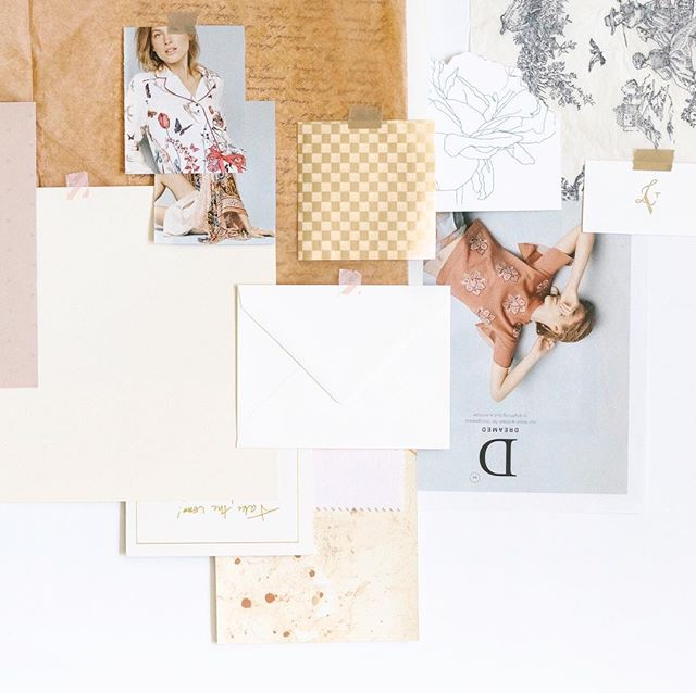"""Raise your hand if you remember making mood boards in elementary school! 🙋♀️ Actually, even in high school! I remember grade nine English I was required to do some sort of expressive collage inspired by Shakespeare's Romeo and Juliet. This homeschooled girl taking one of her first online classes with a """"real"""" teacher (sorry mom!), thought she'd slayyy the assignment because of her mad scrapbooking skills. Swallowing my pride even now remembering that very sad mark! I can't recall all the details, but remember being very confused as I compared the assignment to its rubric!  When I went on to studying design at art college, the amount of mood board assignments required increased (and so did the grade expectation)! I have now learned through experience the necessity of mood boards when it comes to designing. Without a strategically done mood board, I often feel lost and end up circling around ideas.  More on the blog about my mood board and creative direction process! Link in bio"""