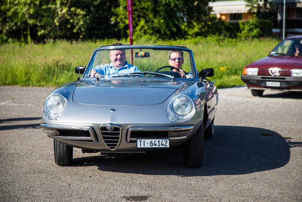 La veterana del Club - Spider Duetto 1967, da Ascona