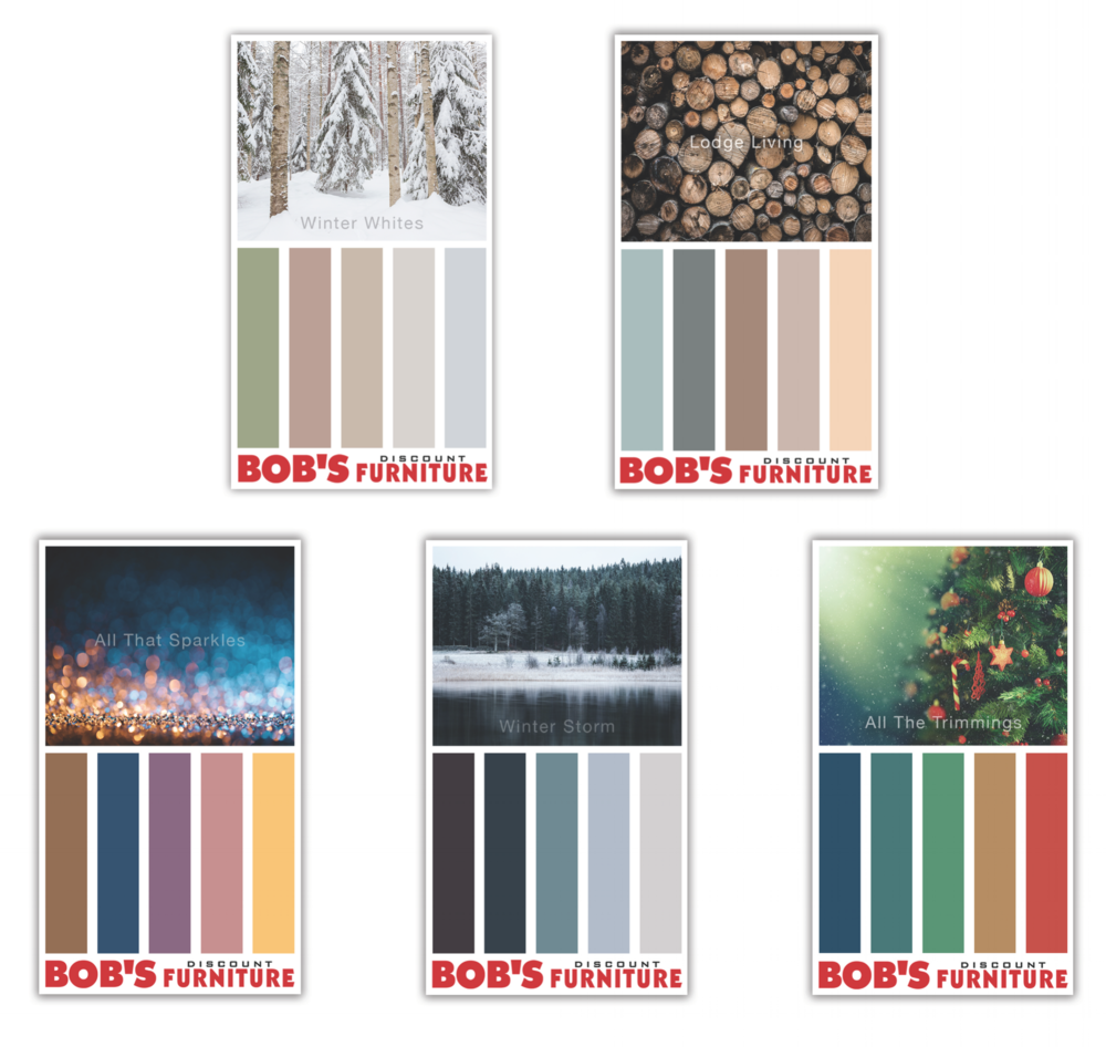 Winter themed color palettes