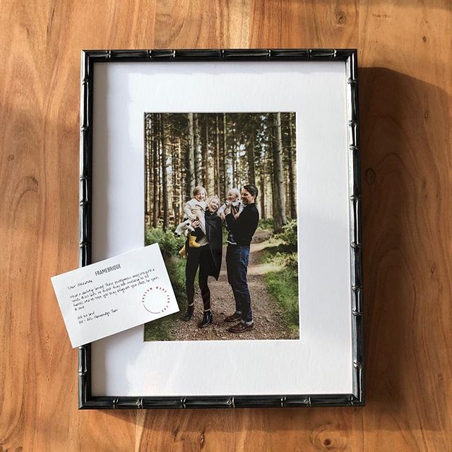 I recently took advantage of the @framebridge Black Friday sale since I am nearly FOUR YEARS BEHIND (😱) in printing any of the family photos we've taken with @emmalawsonphoto in Scotland. Opening up our packages and finding not only some of my favorite memories gorgeously displayed, but a handwritten note personally addressed to me was SUCH an unexpected surprise. During this chaotic family transition, where smiling feels almost like a chore, this simple act of kindness made my heart flutter and brought a smile to my face. It could not have come at the better time. 💛  I am eager to see these empty walls FILLED with our adventures from the past five years abroad, but more importantly, I look forward to the memories we will make (*and frame*) as we continue to live our adventure for years to come. 🌲 #thefamilystarnes #framebridge