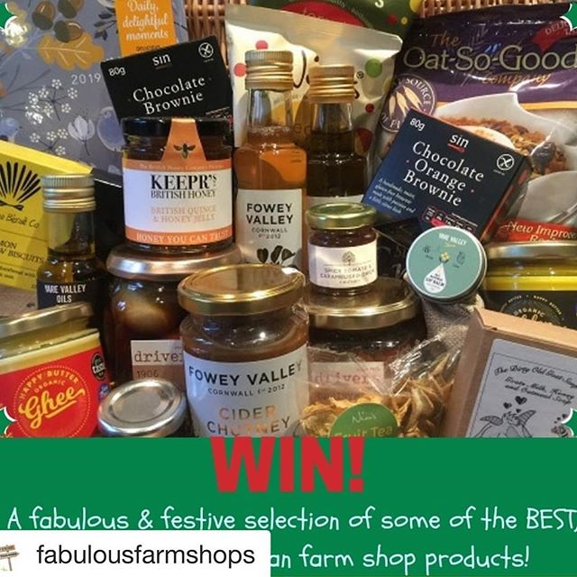 ➡️ check out another competition this time @fabulousfarmshops NB enter the competition with fabulous farm shops twitter or FB 😊⬅️ ・・・ How do you fancy winning this fabulously festive bundle of some of the BEST #British made & #artisan #farmshop products?  Sound good? Entry via FB & Twitter #Competition ends 14/12/18 ⭐️With thanks & Christmas cheer to @recipiediaries #singlutenfree #aberffrawbiscuitco @yarevalleyoils @driverspickles @happybutterghee @foweyvalley #dirtyoldgoatsoap @nimsfruitcrisps @britishhoneyco @oatsogood_company @spicekitchenuk ⭐️ #win #giveaway #awardwinning #farmshops