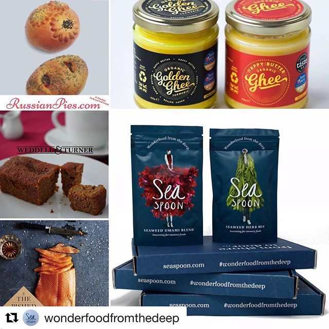 #Repost @wonderfoodfromthedeep with @get_repost ・・・ GIVEAWAY ALERT!! It's a Bursary Bonanza as we've teamed up with fellow BBC Good Food Show Bursary Award Winners to create a fantastically tasty prize worth over £50! 💚 Seaspoon Flavour Box + 14 Seaweed Boost sachets @wonderfoodfromthedeep 🐟 'The Classic' Whisky & Maple Syrup, Oak Smoked salmon, 100g @thepishedfish 🍛 Organic Ghee, 300g + Golden Turmeric Ghee, 300g @happybutterghee 🍰 5 sticky ginger cakes @weddellandturner 🥧 The Shostakovich Collection, 2 Premium pies @RussianPies  For a chance to win this amazing bundle of award-winning goodies simply: 1. Follow all 5 Instagram pages 2. Like this post  3. Tag the friend you'd share it all with 💚  Entries close at midnight on Sunday 3 Feb 2019. UK entries only. The winner will contacted be within 1 week of the competition closing and will be mailed each prize element separately, direct from the producer.  Good luck!  #winit  #foodlover #competition  #giveawawaytime #giveaway #delicious #win #foodiesofinstagram #foodgram #madeinbritain #GFSBursary #bbcgoodfoodshow #GFSWinter #bbcgoodfood
