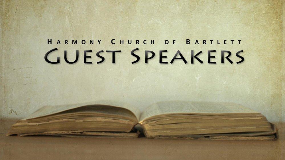 Guests Speaker Sermons
