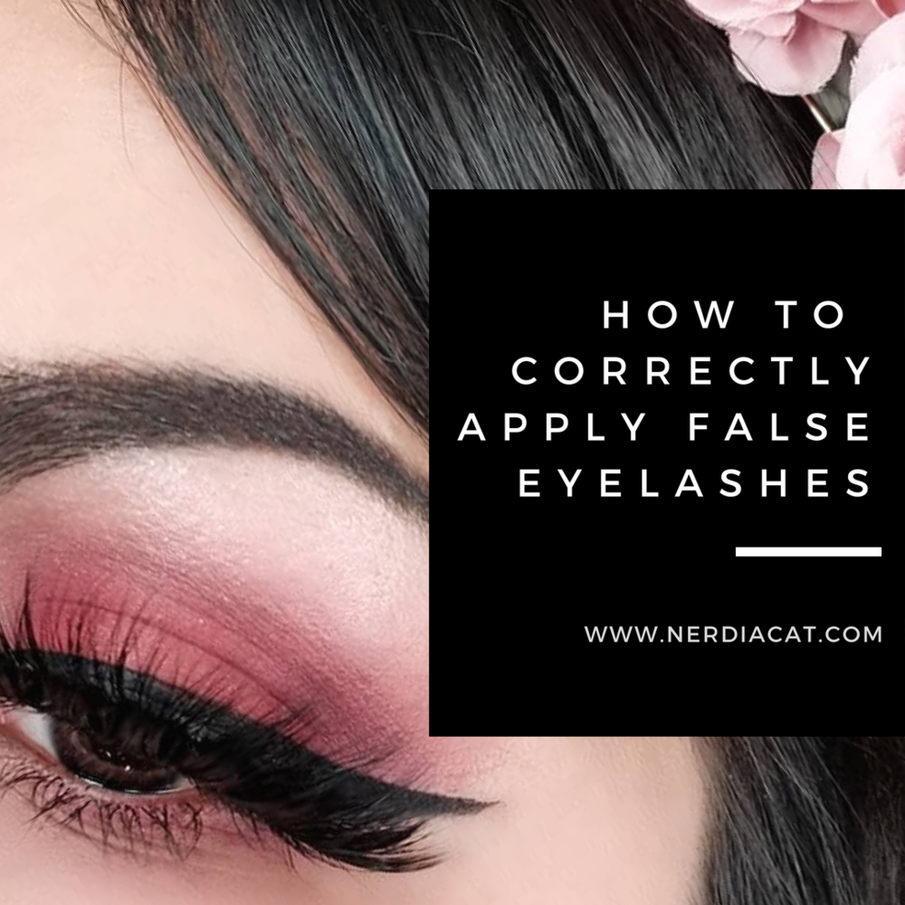 How To Correctly Apply False Eyelashes Nerdia Cat