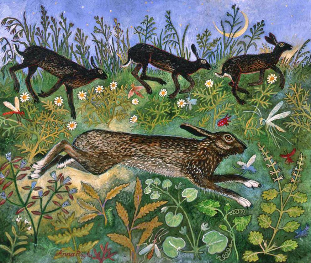 Anna Pugh - Anna paints rural landscapes with whimsical details and a dreamlike quality.