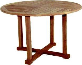 "47"" Round Four Poster Table - $490  Dimensions: 47"" x 47"" x 31""  Plantation Teak - Indonesia"