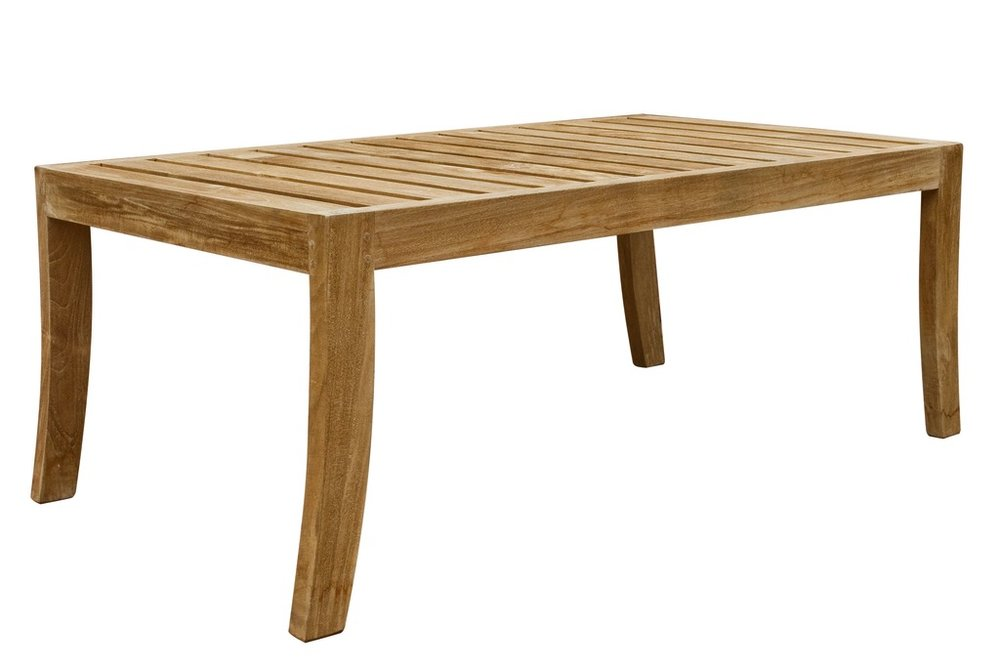 "Catalina Rectangular Coffee Table - $350  Dimensions: 42"" x 24"" x 17""  Plantation Teak - Indonesia"