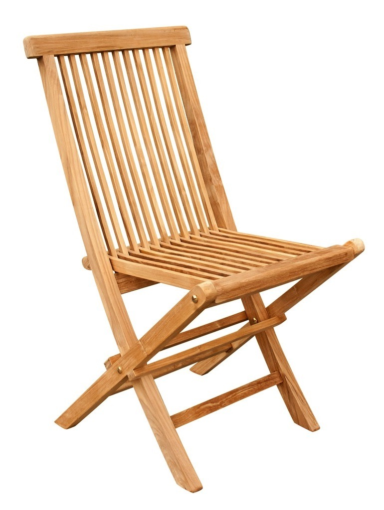 "Old Folding Chair - $135  Dimensions: 17"" x 17"" x 36""  Plantation Teak - Indonesia"