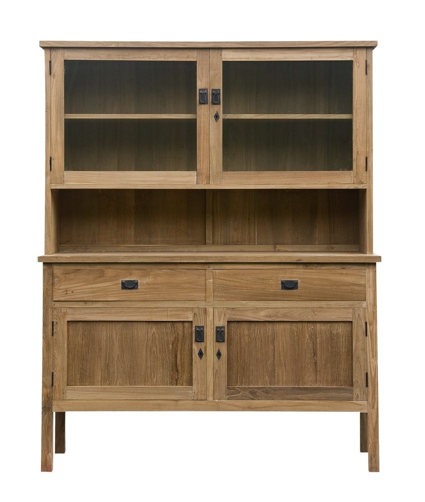 """Large Simple Hutch - $2,310.00  Dimensions: 61"""" x 22"""" x 76""""  Reclaimed Teak - Indonesia"""