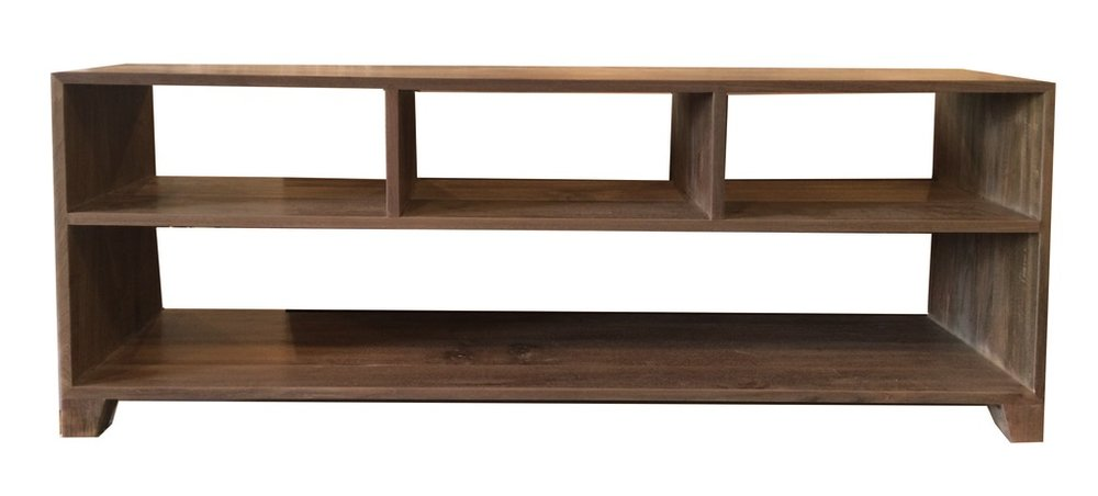 """Short Cubby Console - $805.00  Dimensions: 60"""" x 15"""" x 24""""  Reclaimed Teak - Indonesia"""