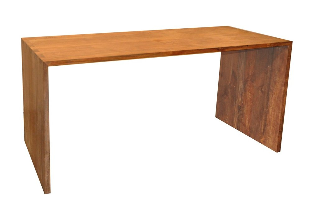 "Simple Desk - $955.00  Dimensions: 59"" x 28"" x 30""  Reclaimed Teak - Indonesia"