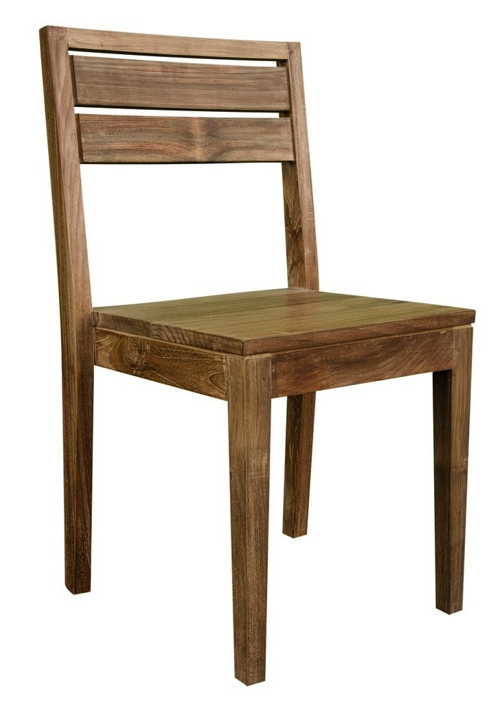 """Soma Side Chair - $235.00  Dimensions: 16"""" x 17"""" x 34""""  Reclaimed Teak - Indonesia"""
