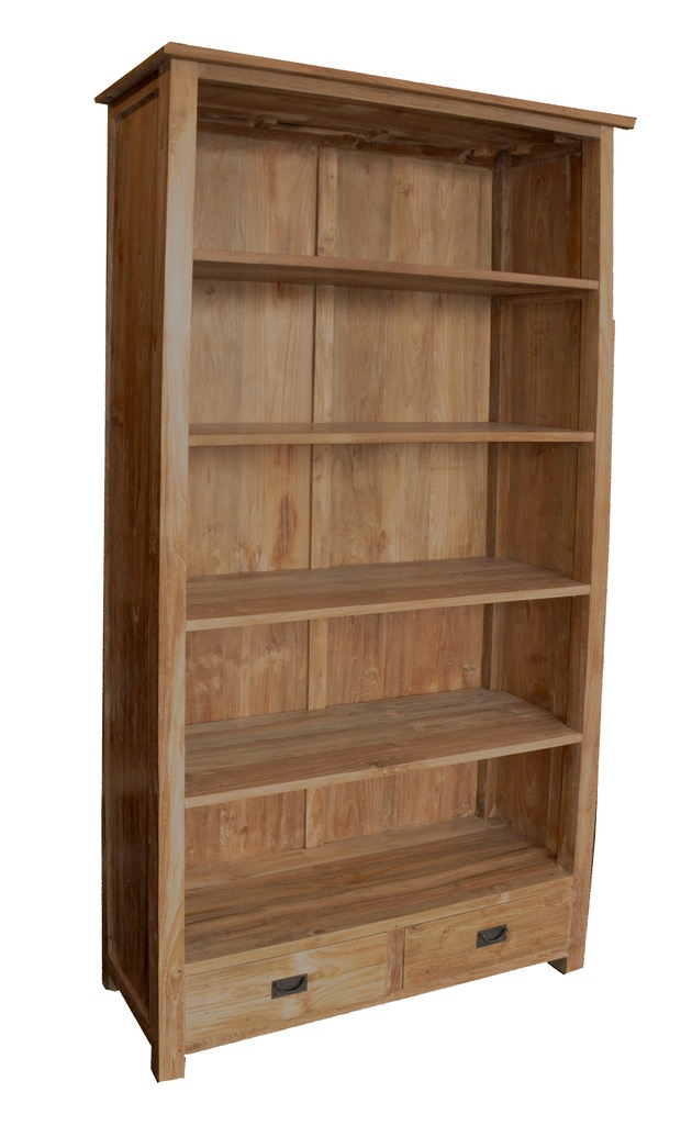 "Tall Bookcase - $1,480.00  Dimensions: 40"" x 14"" x 79""  Reclaimed Teak: Indonesia"