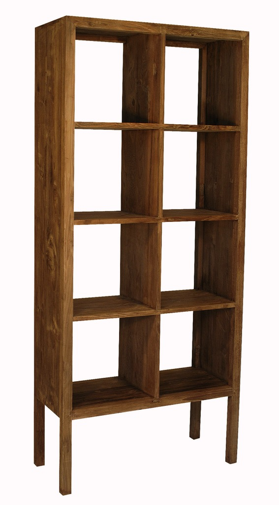 """Tall Cubby Bookcase - $1,160.00  Dimensions: 32"""" x 14"""" x 75""""  Reclaimed Teak - Indonesia"""