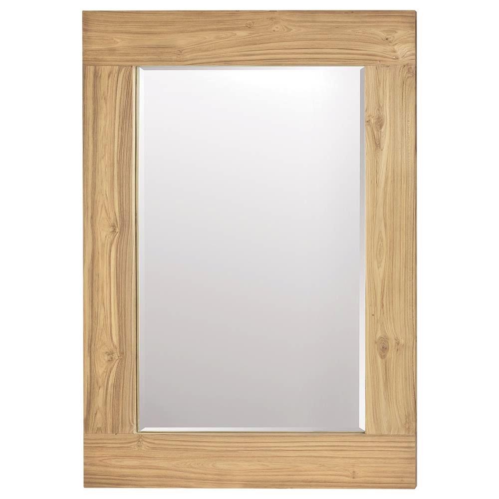 "Rectangular Teak Mirror - $445  Dimensions: 30"" x 60""  Reclaimed Teak - Indonesia"