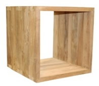 """Cube Side Table - $390.00  Dimensions: 20"""" x 20"""" x 20""""  Reclaimed Teak - Indonesia"""