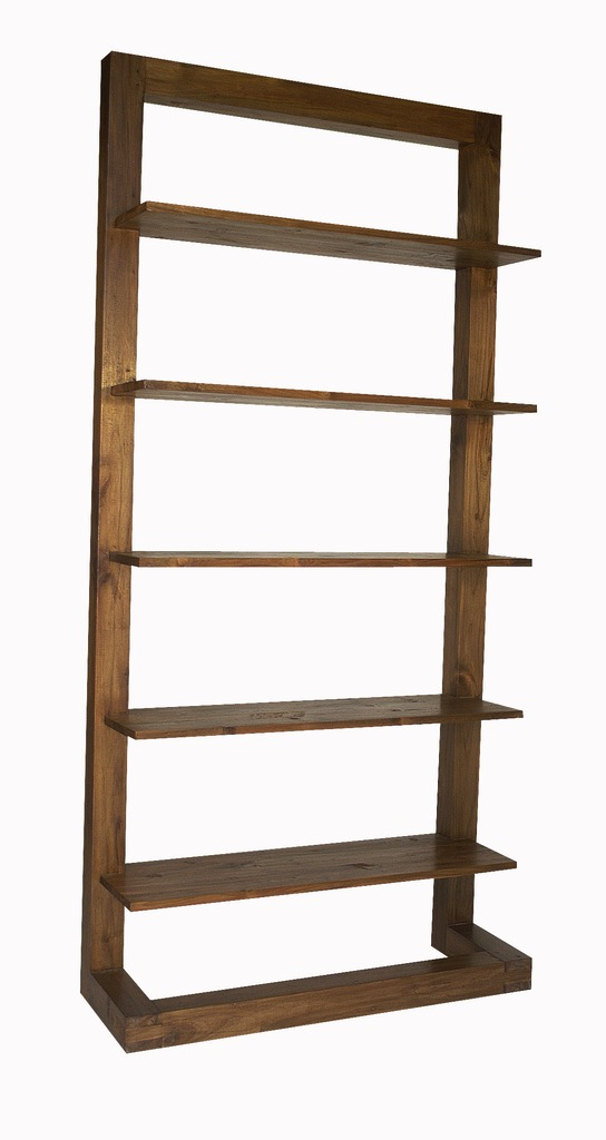 """Floating Bookcase - $1,020.00  Dimensions: 40"""" x 14"""" x 83""""  Reclaimed Teak - Indonesia"""