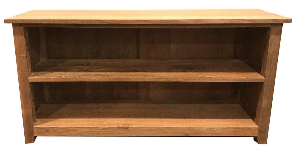 "4' Extra Short Bookcase - $593.00  Dimensions: 48"" x 14"" x 24""  Reclaimed Teak: Indonesia"