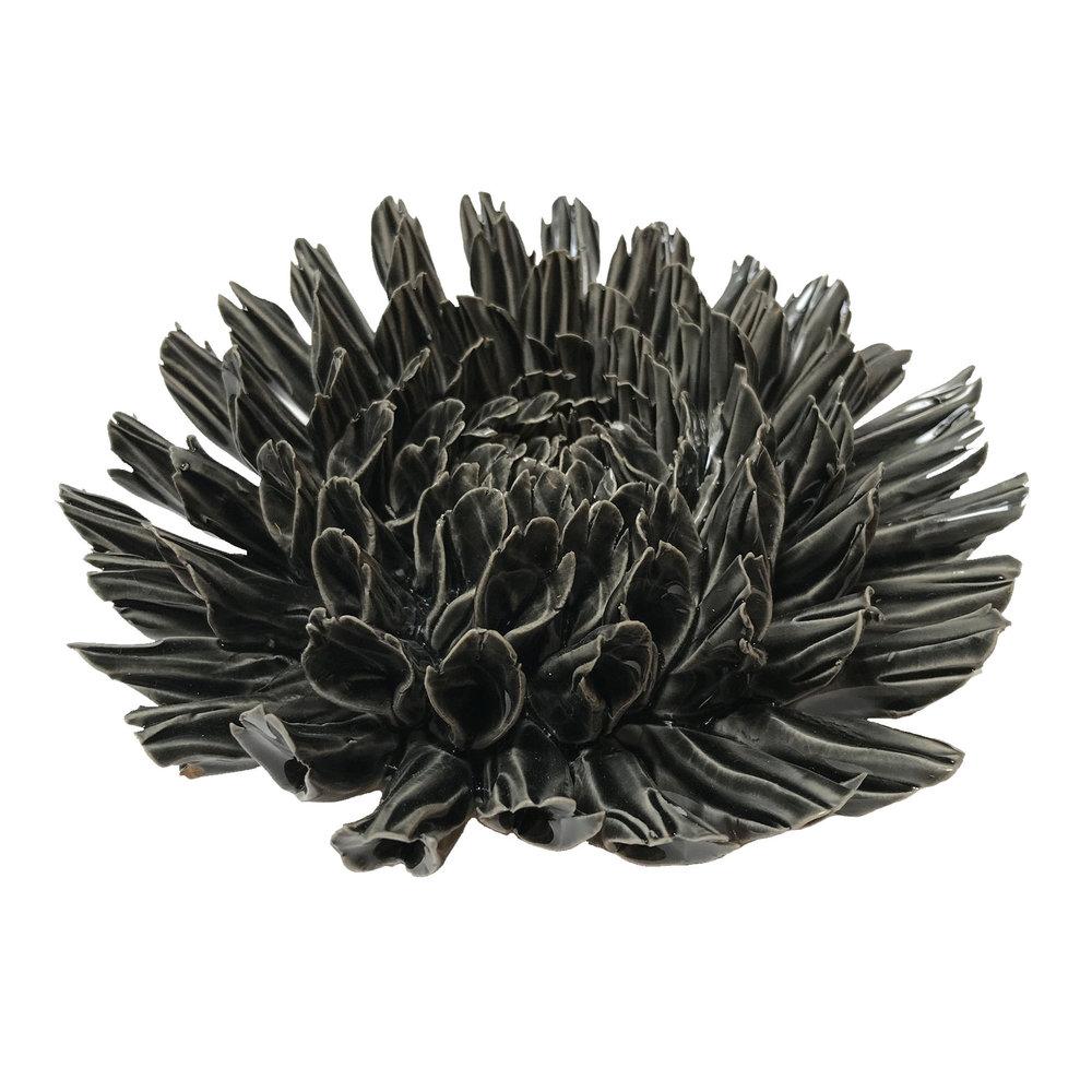 """Black Fractal Flower - $51  7"""" Diameter, 3"""" Tall"""