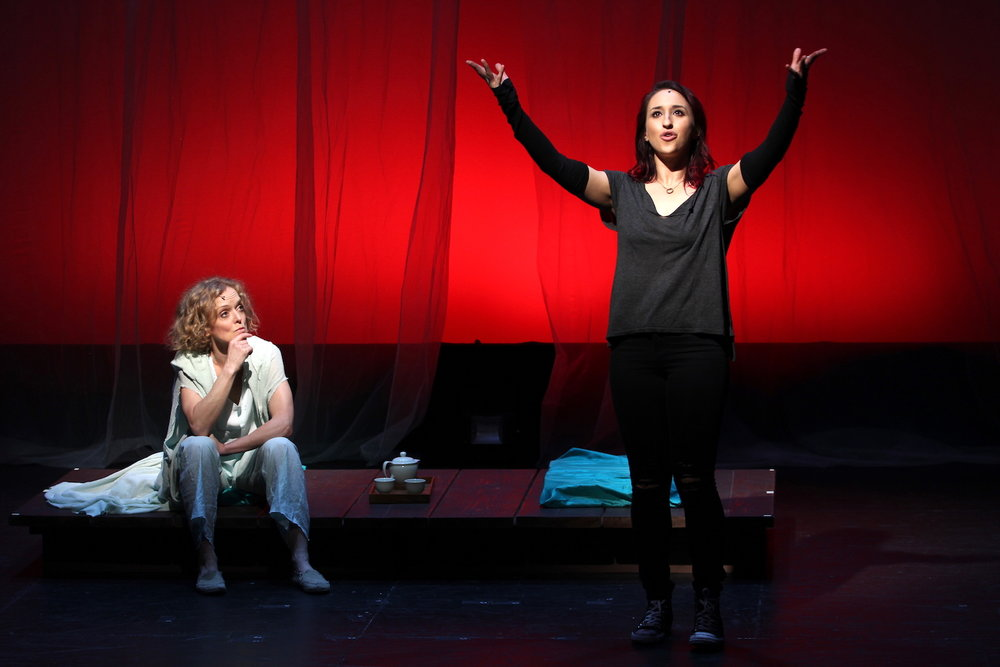 Nancy Anderson (Sid), Samia Mounts (Raina). New York Musical Festival. Photo: Karen Shih.
