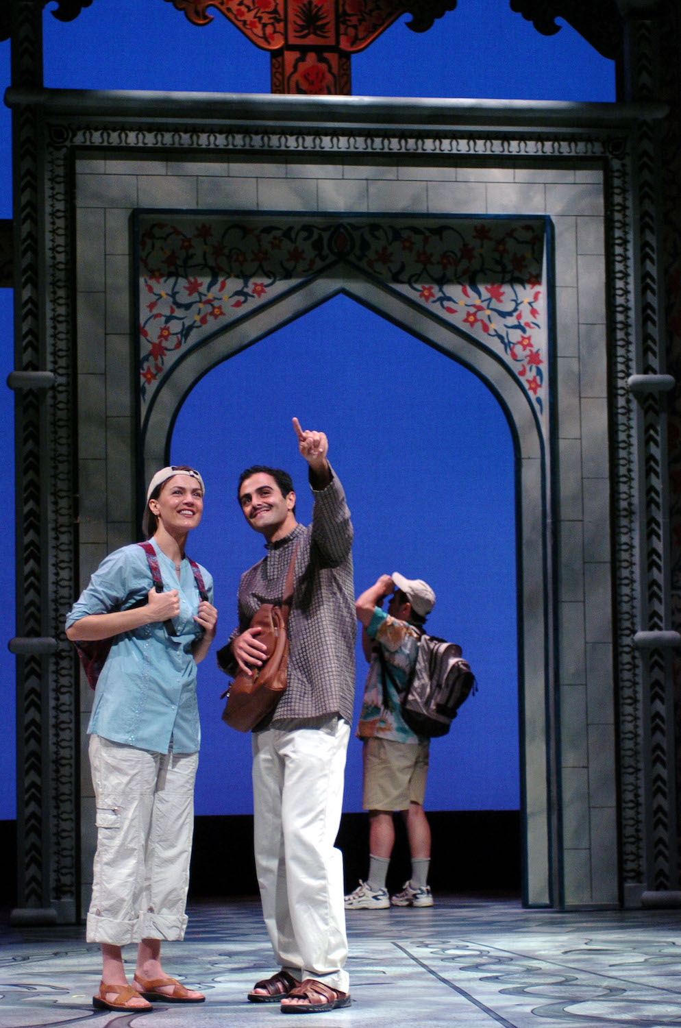 Lesley Fera (Rachel), Samir Younis (Abhi). TheatreWorks. Photo: David Allen.