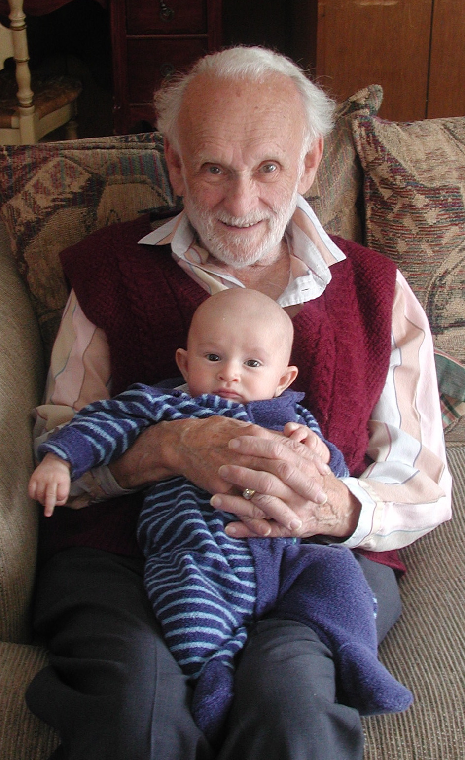 My dad with my older son in 2003.