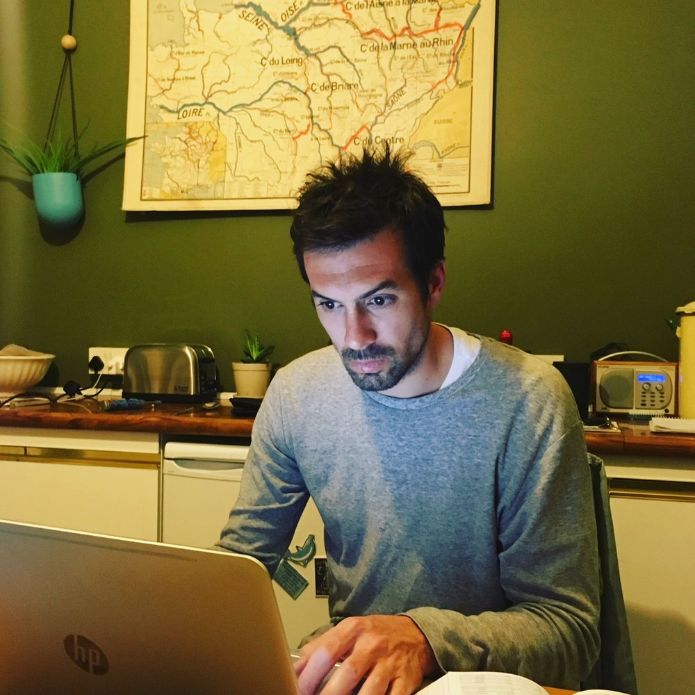 David deep in planning.