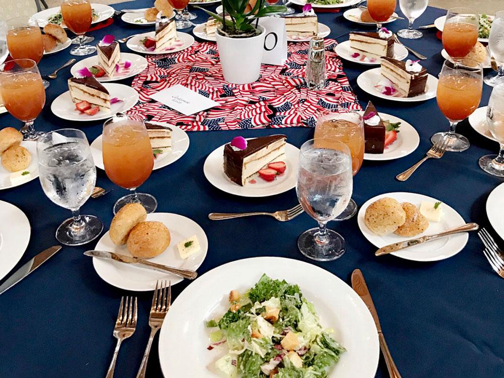 patriotic seated dinner