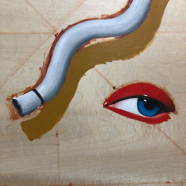 @elmo_84 💄 . . . . #weareopencolor#artmagazine#visualart#painting#eye