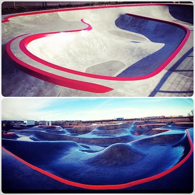 Top: Alberta Skatespot, in Portland, Oregon  Bottom: Thunder Park, Blackfeet Reservation in Browning, Montana
