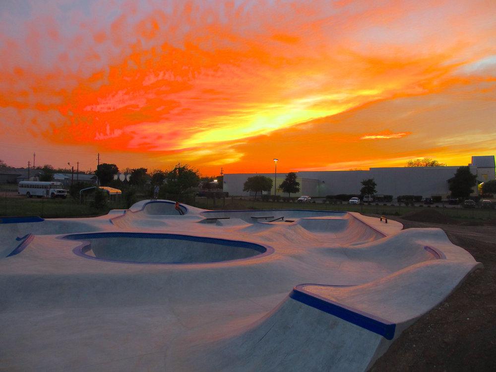 Sunset at Fredericksburg