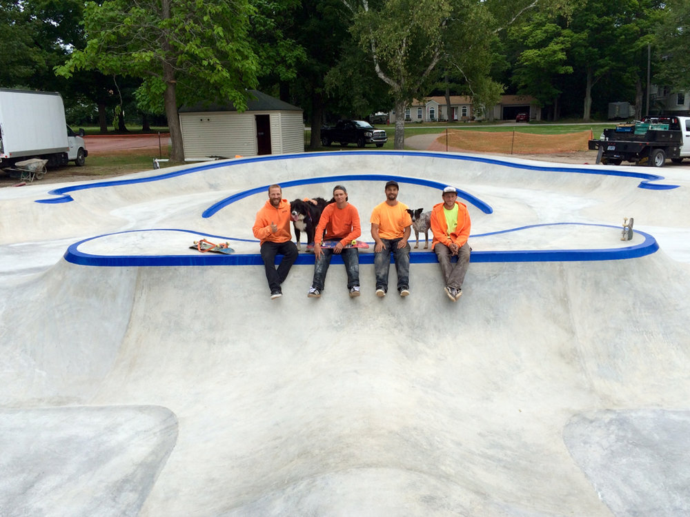 Frankfort Skatepark crew from left: