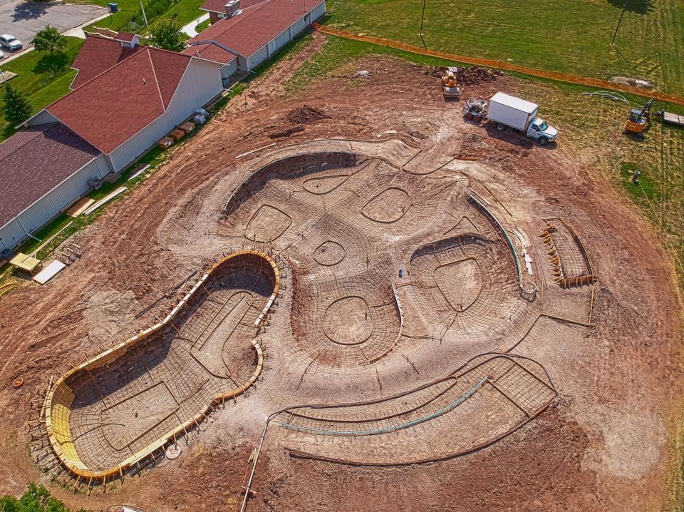 Whole park overview pre-concrete. Yep, we got a drone.