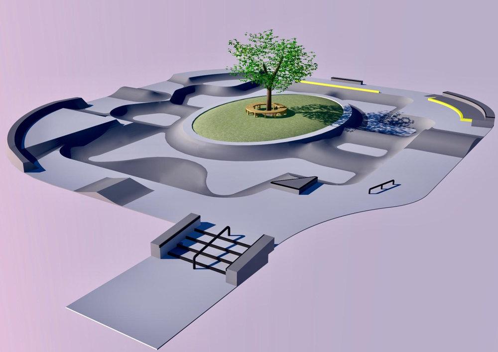 Watertown, South Dakota Skatepark Design Concept