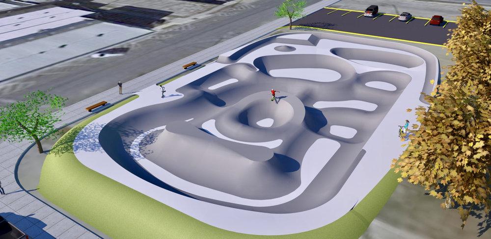 Taylor skatepark concept