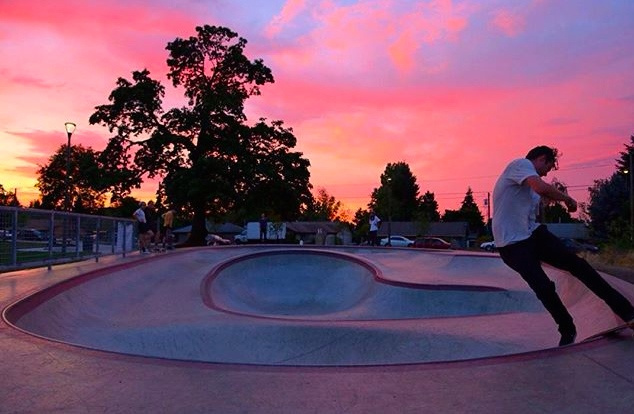 Alberta Skate Spot at sunset