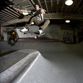 Over the hip at Commonwealth Skatepark