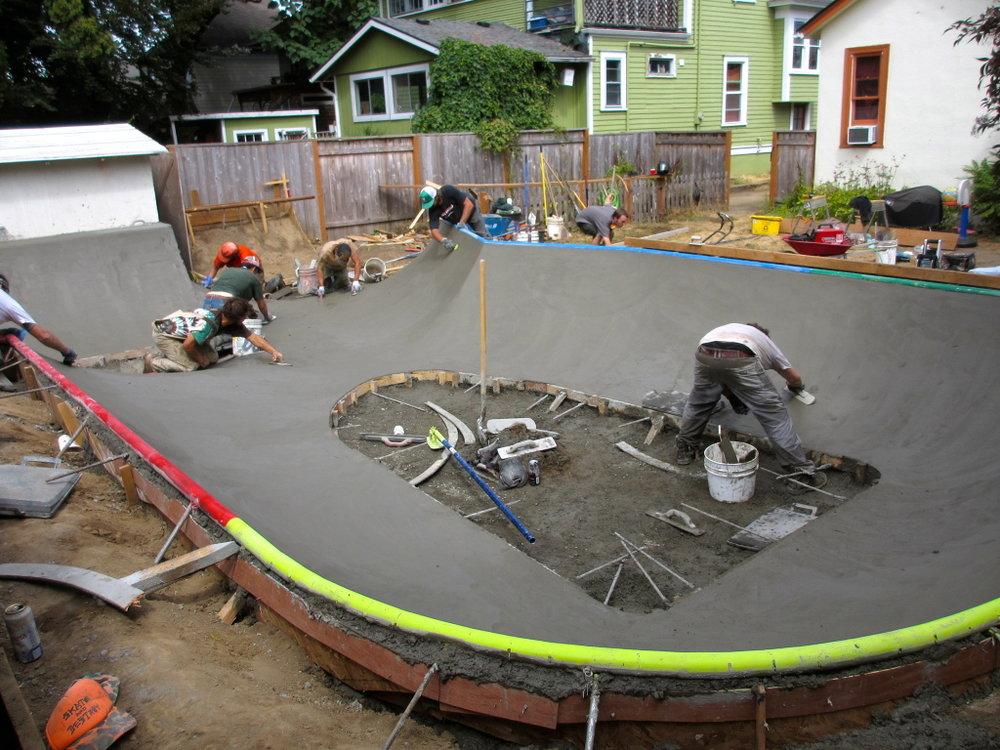 Mini park construction