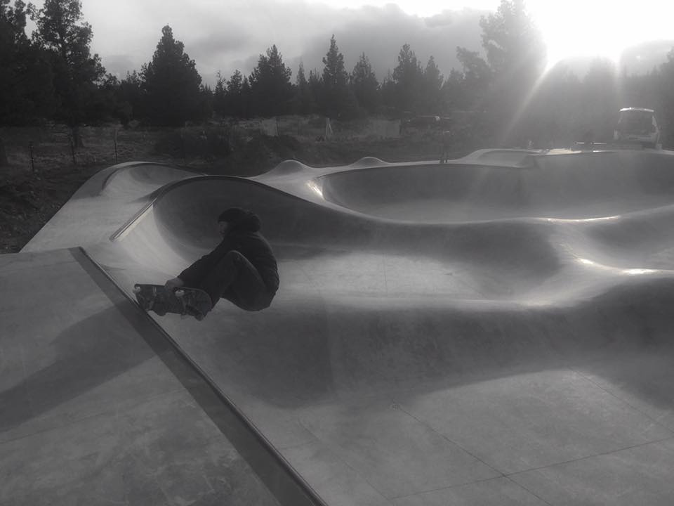 Chris Hogan enjoys the Rockridge Skatepark