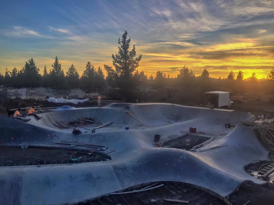 Rockridge Skatepark construction