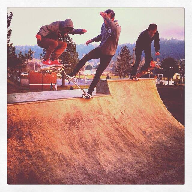 Three for one at Happy Valley Skatepark