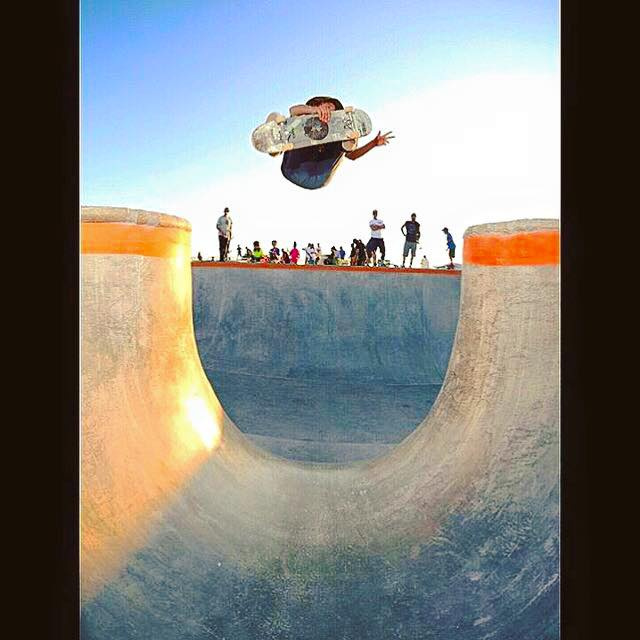 Dalton Dern over the channel in the Big O Bowl