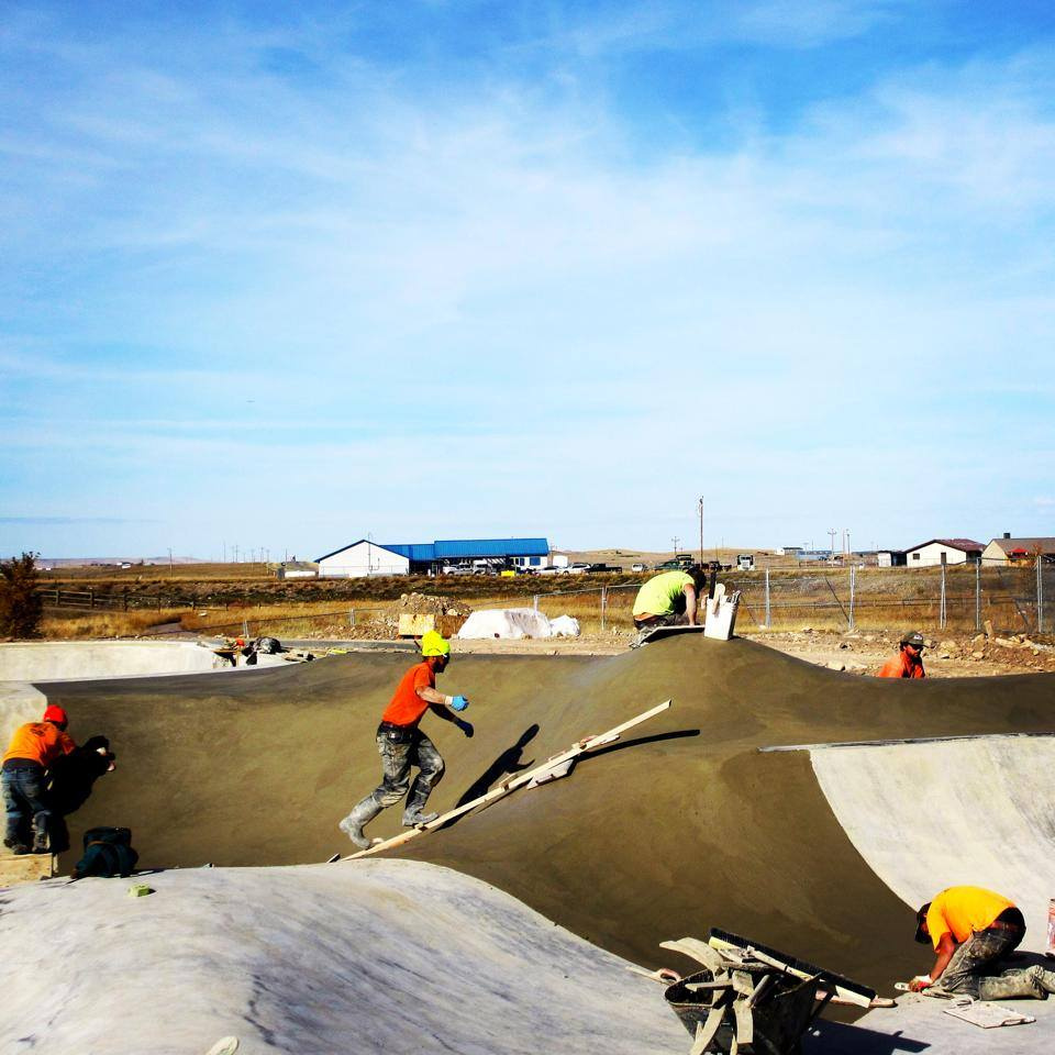 Blackfeet Skatepark construction